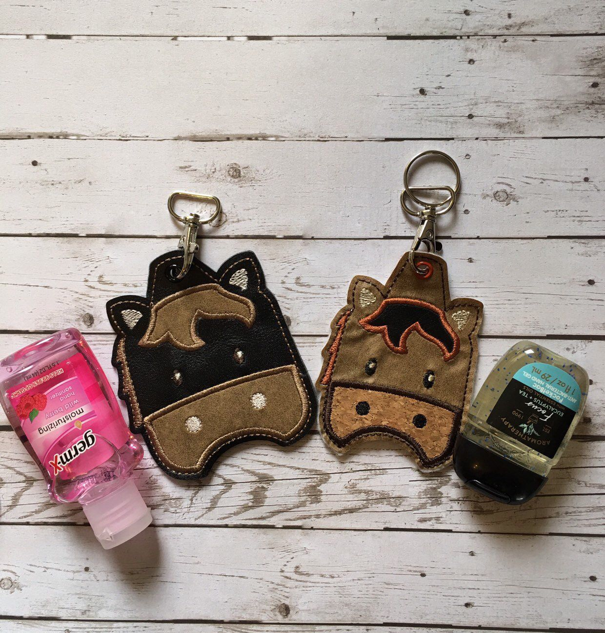 Horse Hand Sanitizer Holder Keychain Hand Sanitizer Keychain 1