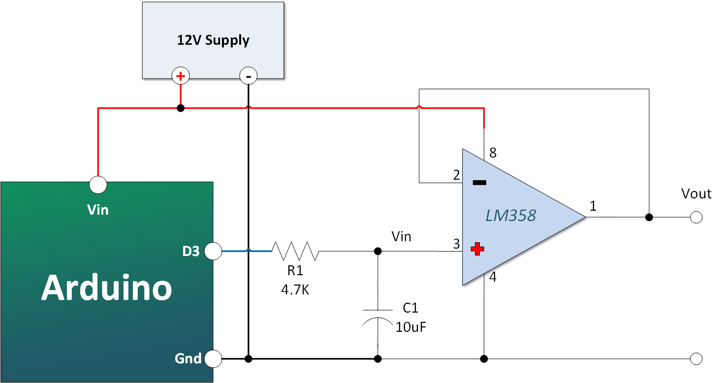 Opamp Voltage Booster Schematic