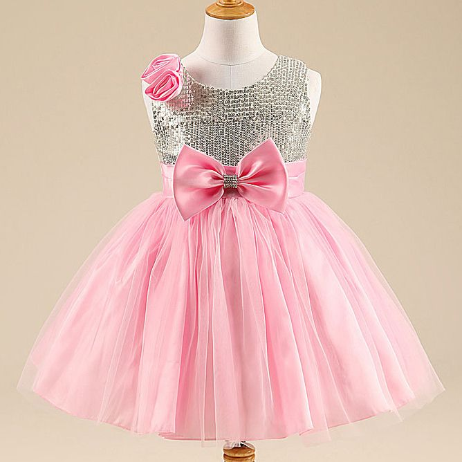 2683c63c9 Click to Buy    2-10Y Bling Sequins Kids Frock Designs Princess Tutu ...