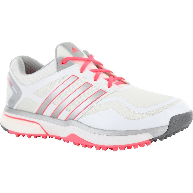 894bd4b62a3 adidas Ladies adipower sport Boost Golf Shoes Q47018 Size 8 Medium  White Pink  Girls Golf