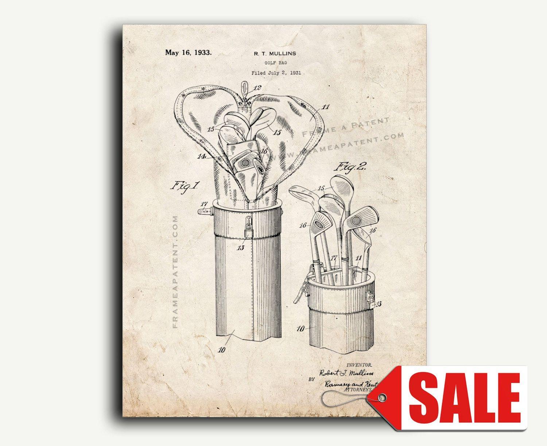 Patent Print - Golf Bag Patent Wall Art Poster | Pinterest | Golf ...