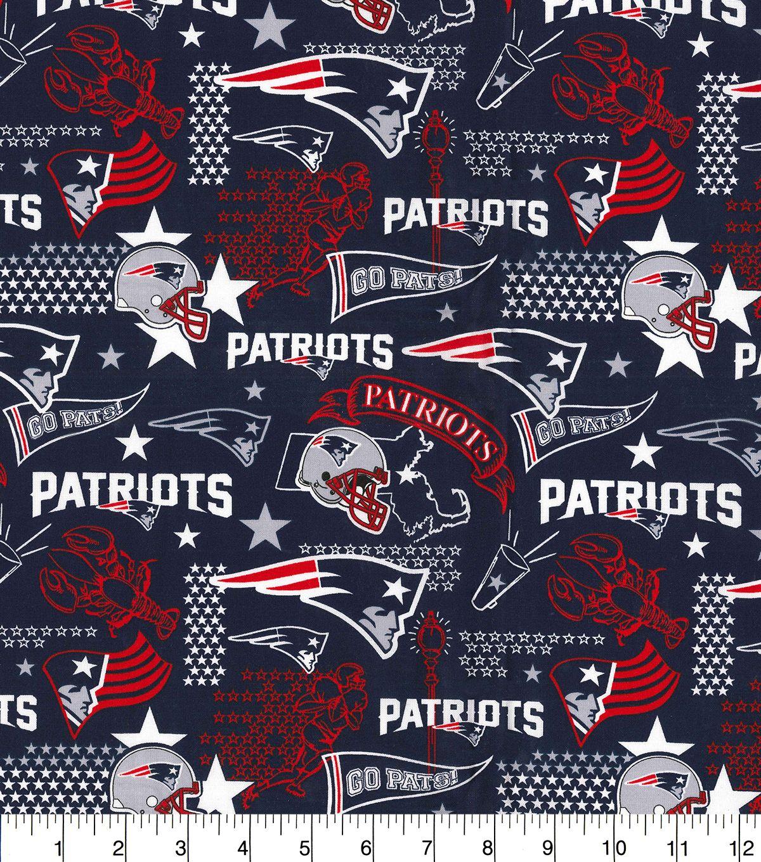 New England Patriots Cotton Fabric Hometown Joann Nfl New England Patriots New England Patriots England Patriots