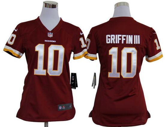 2b8a38c14 Nike Redskins  10 Robert Griffin III Red Team Color Womens NFL Game Jersey  And Bengals