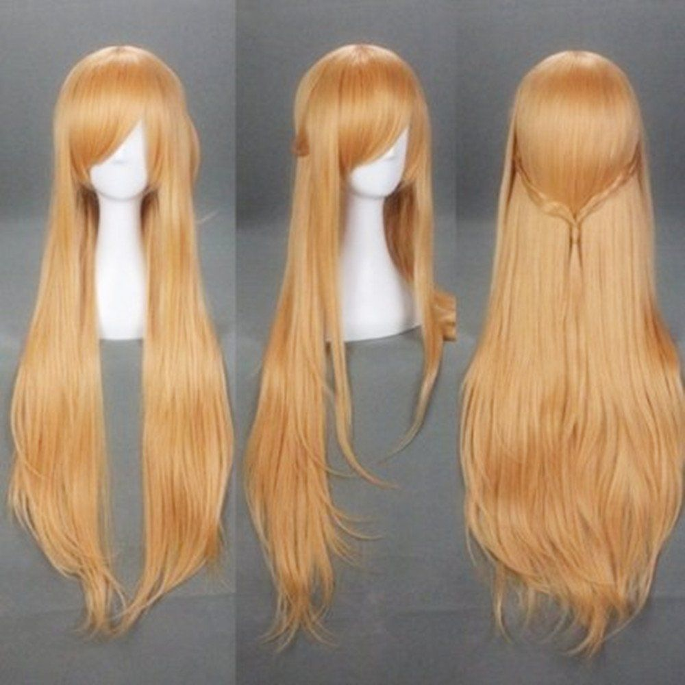 Hot Brown Sword Art Online Sao Asuna Cosplay wig 100cm//40 Inch