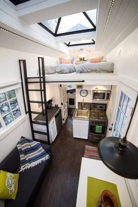 Tiny Home with Giant Skylights in Utah #tinyhouses