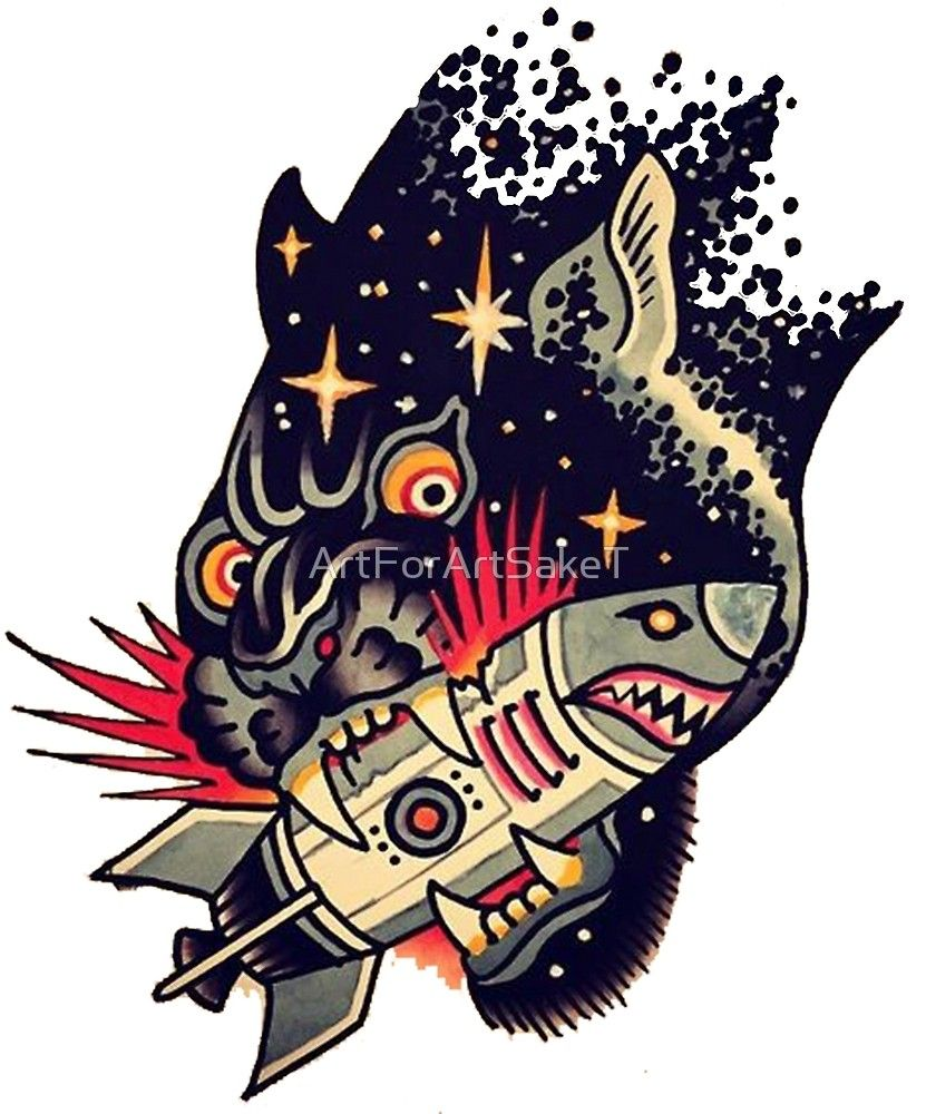15558e7000a2e Sailor Jerry Traditional Tattoo - Black Cat Spaceship in Space by  ArtForArtSakeT