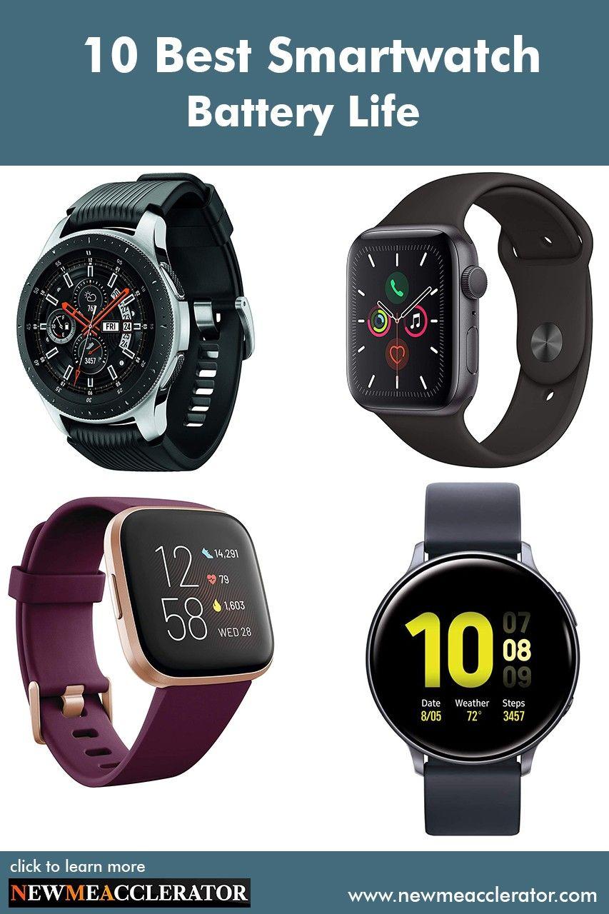 10 Best Smartwatch Battery Life in 2020 | Smart watch ...