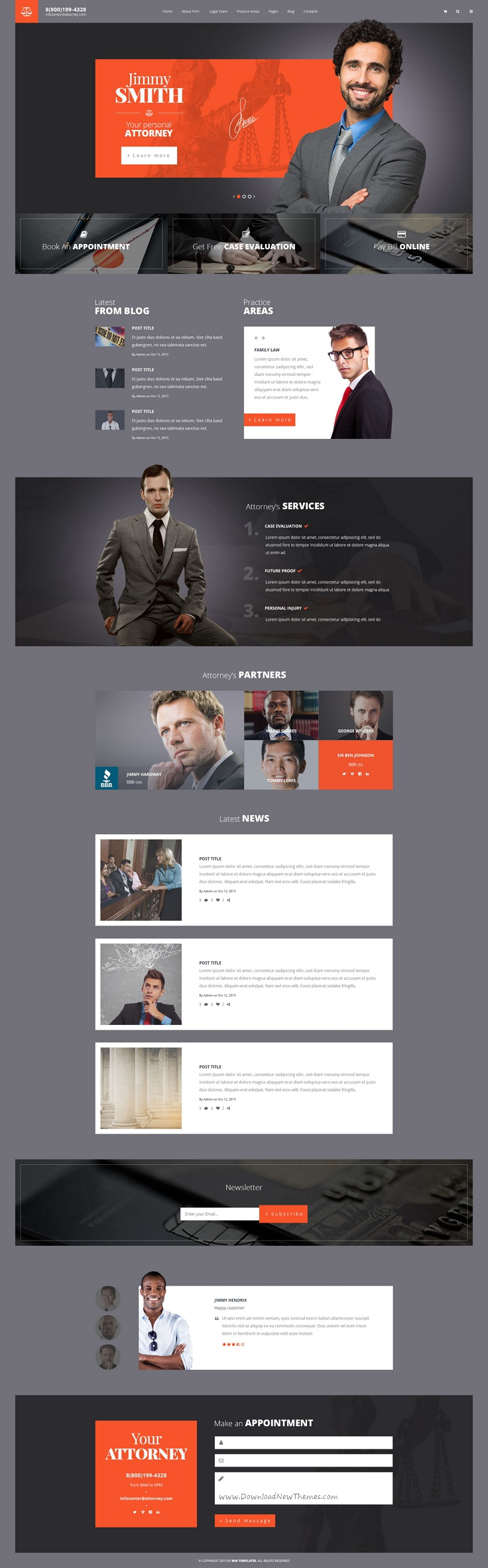 Attorneys is a premium #PSD template for law #firm, personal #law ...