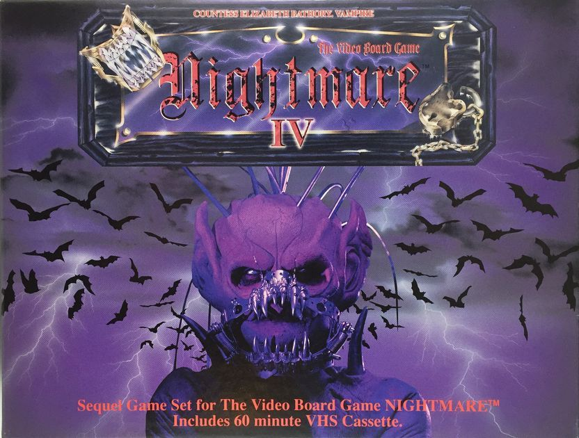 Cover Of The Video Board Game Nightmare Atmosfear Iv Elizabeth Bathory Vampire Elizabeth Bathory Nightmare Bathory