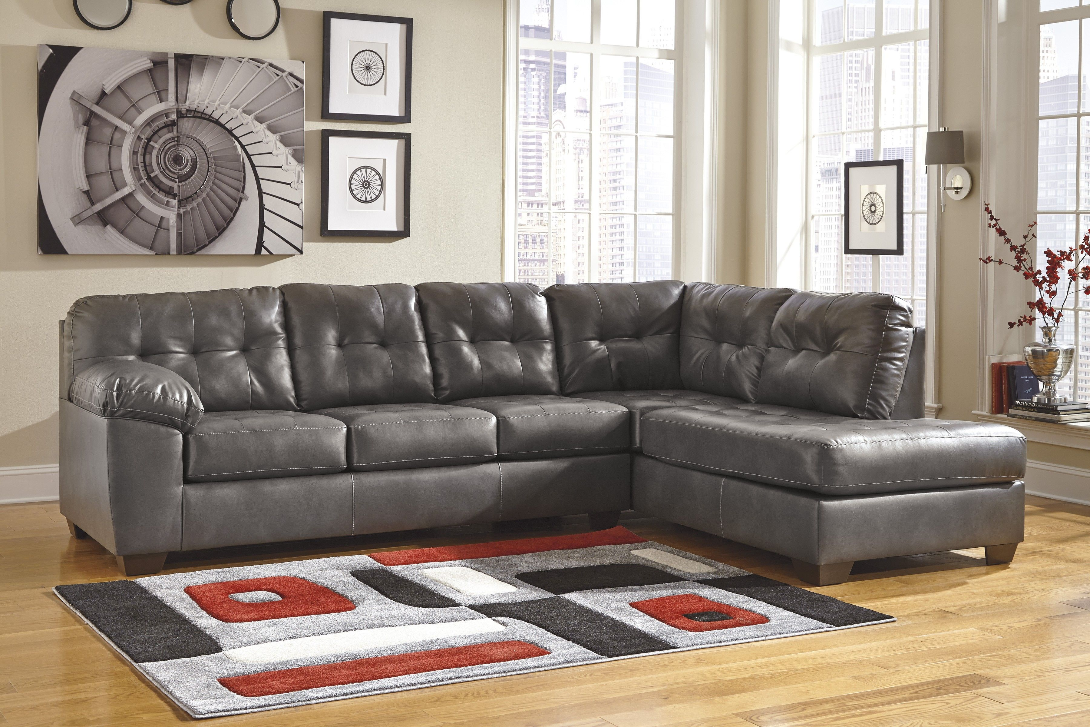 Love Light Colored Leather Sofas Like This Gray One