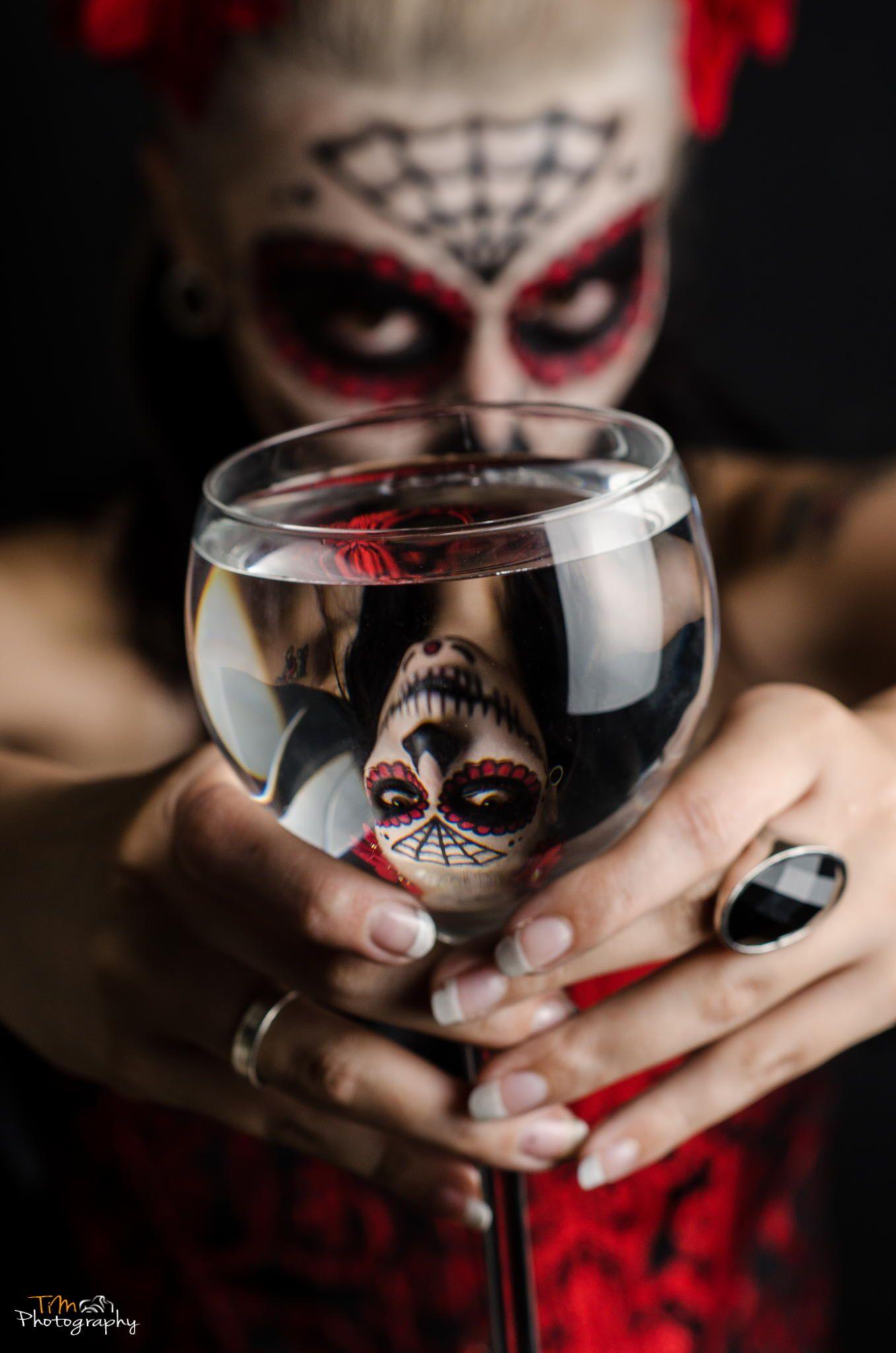 La Catrina, Dia de Los Muertos, Mexico! Sugar Skull Makeup. | Dia de ...