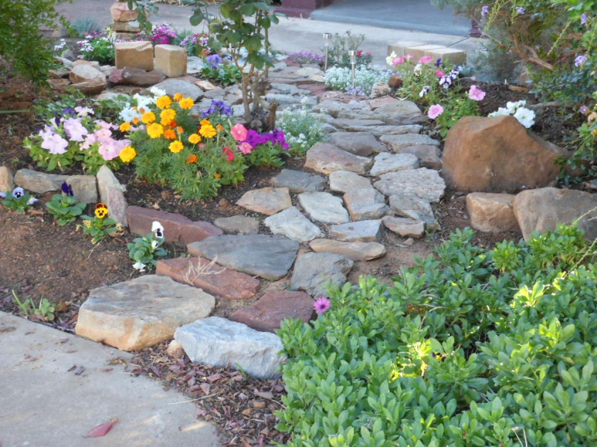 Pin By Kristy Mckenzie On Outdoors Landscaping With Rocks Front Yard Landscaping French Garden Design