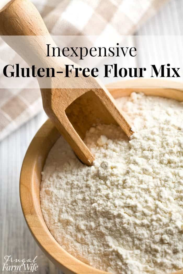 Inexpensive Gluten-Free Flour Mix | The Frugal Farm Wife