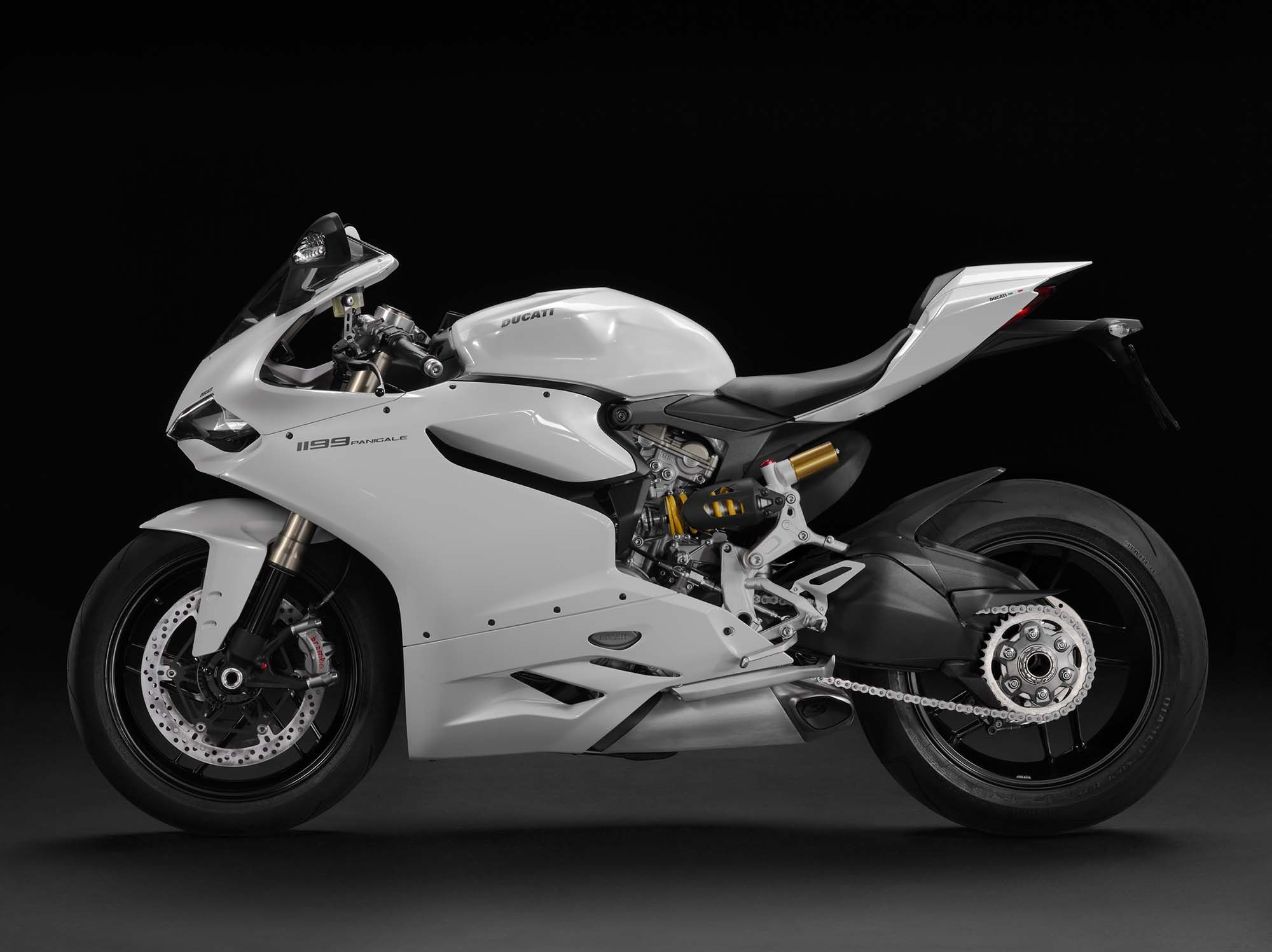 Another View Of The Ducati 1199 Panigale Arctic White 2013 Model