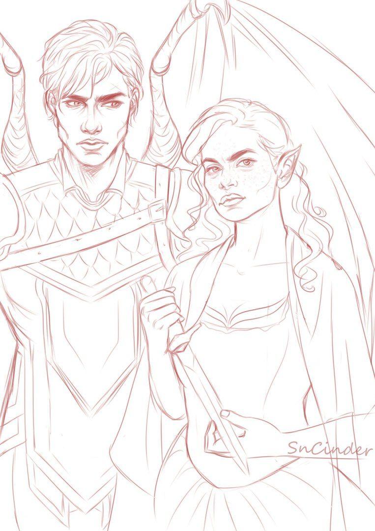 Azriel And Elain Drawings
