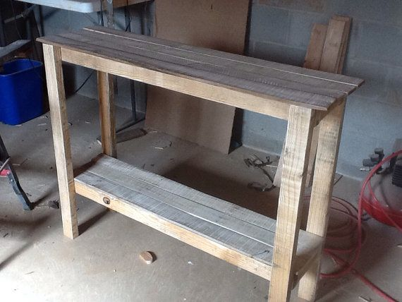 Hand Made Wood Pallet Furniture Sofa By Soulsisterpalletshop Pallet Sofa Tables Diy Sofa Table Pallet Furniture