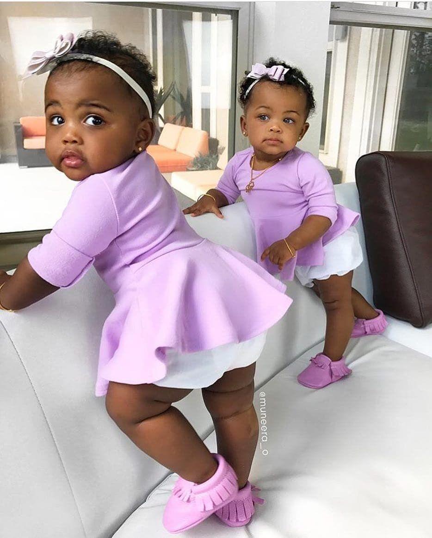 Pinterest lexualsun black twin babies black baby girls twin baby girls brown