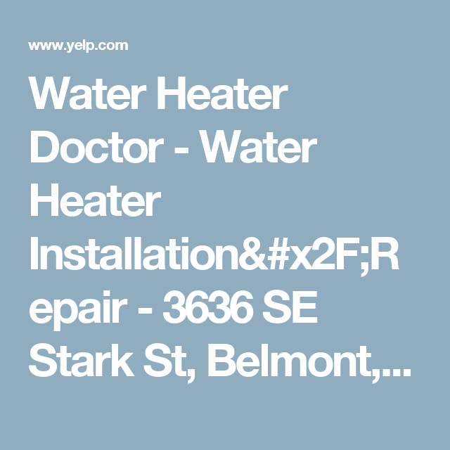 Water Heater Installation/Repair