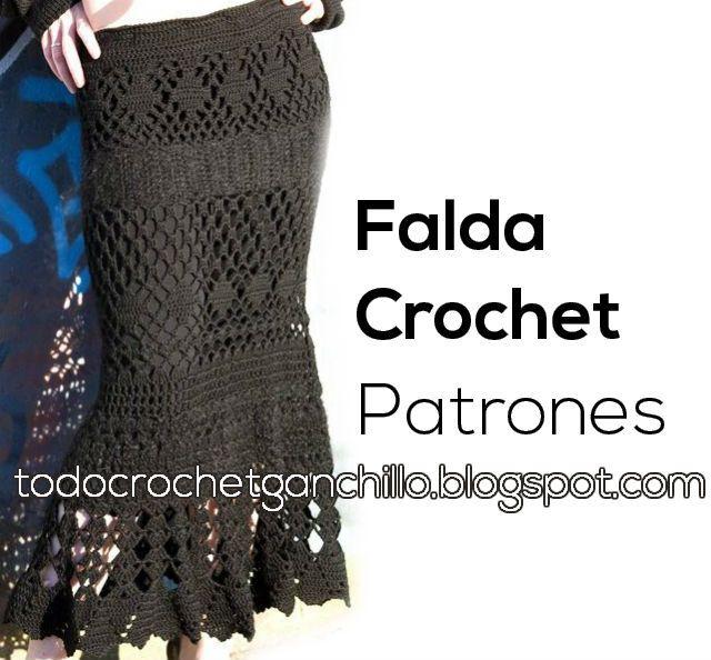 patrones-falda-crochet.jpg (640×594) | falda | Pinterest | Patrones ...