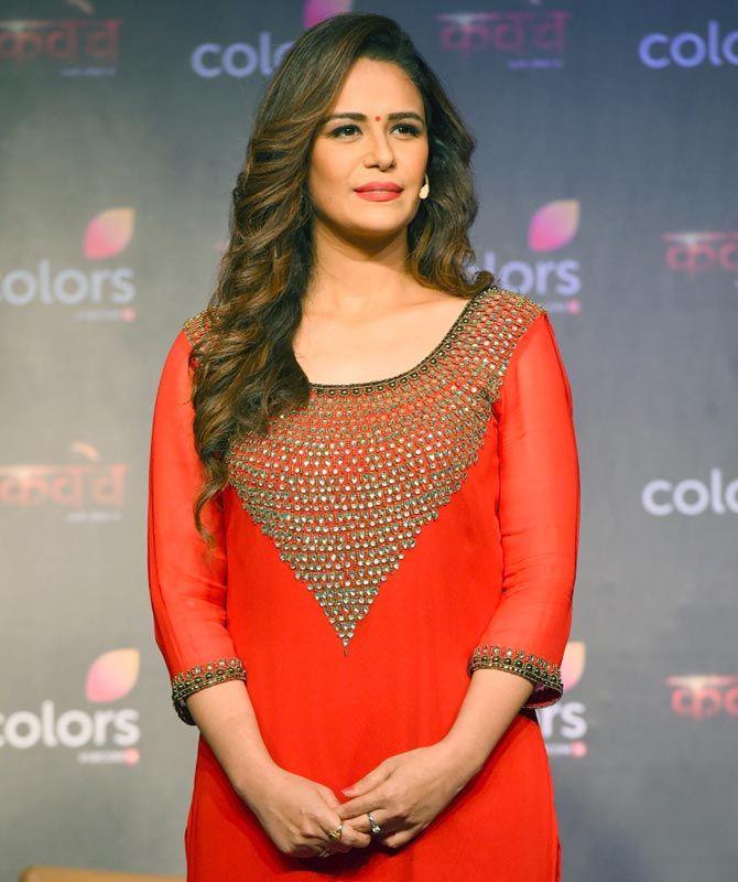 985fb2eddd325e Mona Singh at the launch of TV show 'Kavach... Kaali Shaktiyon Se'. # Bollywood #Fashion #Style #Beauty #Hot #Sexy