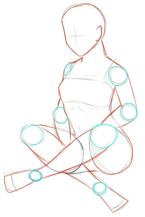 Pose reference: female sitting - crossed legs by Iki