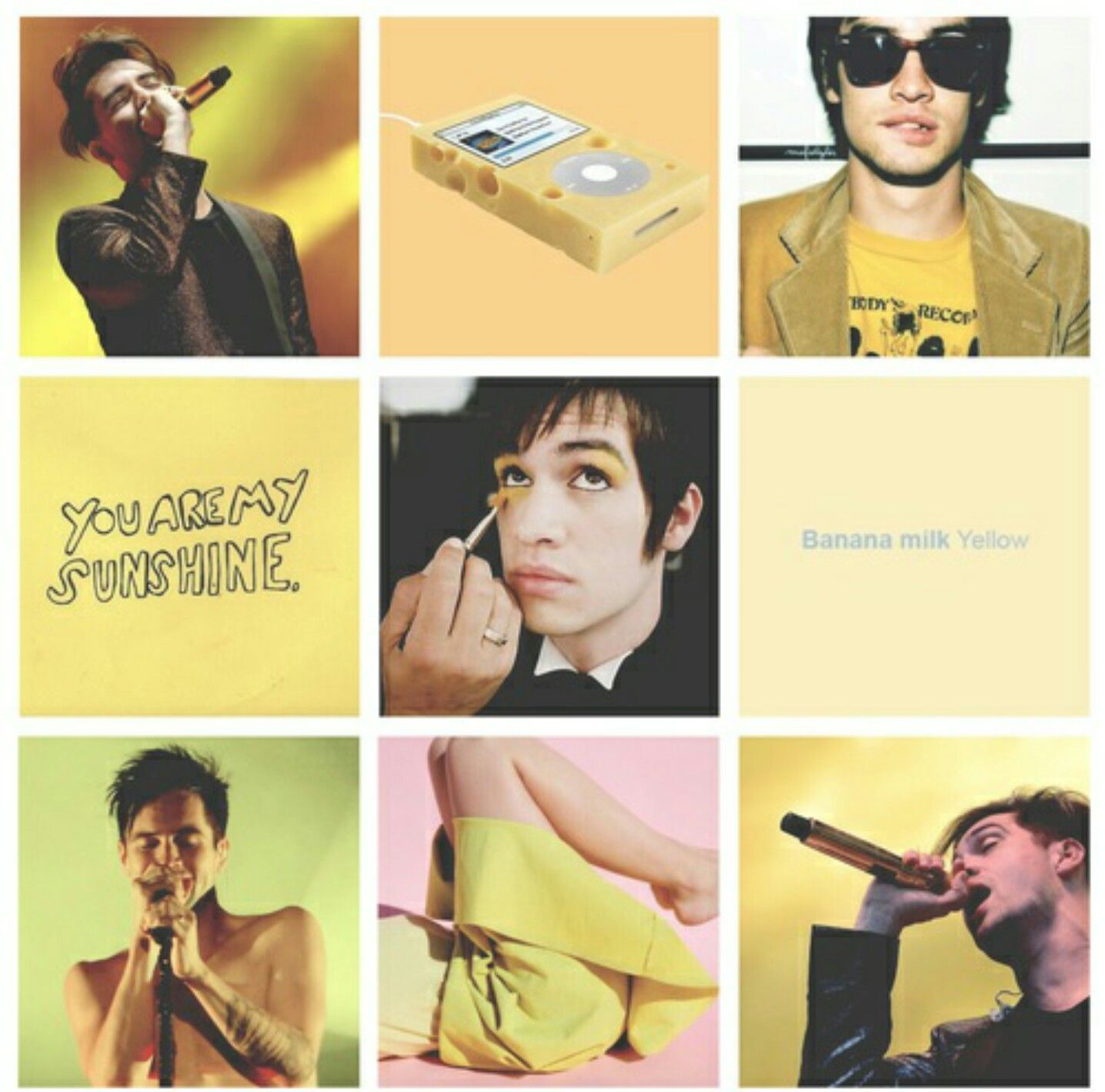 Panic At The Disco Moodboard Aesthetic Yellow Panic At The Disco Disco Singer