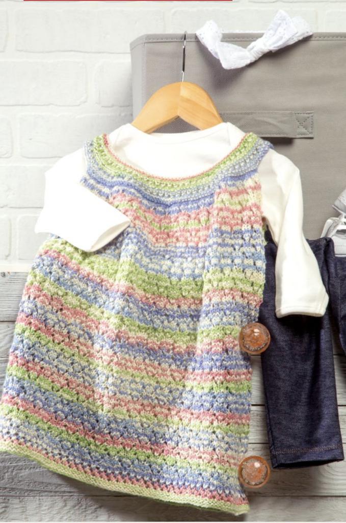 Dentelle Girl's Dress | Baby cardigan knitting pattern ...
