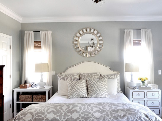 Gray And White Bedroom Color Scheme