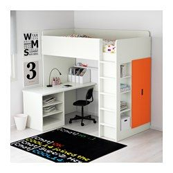 ikea stuva hochbettkomb 2 b den 2 t ren wei birke. Black Bedroom Furniture Sets. Home Design Ideas