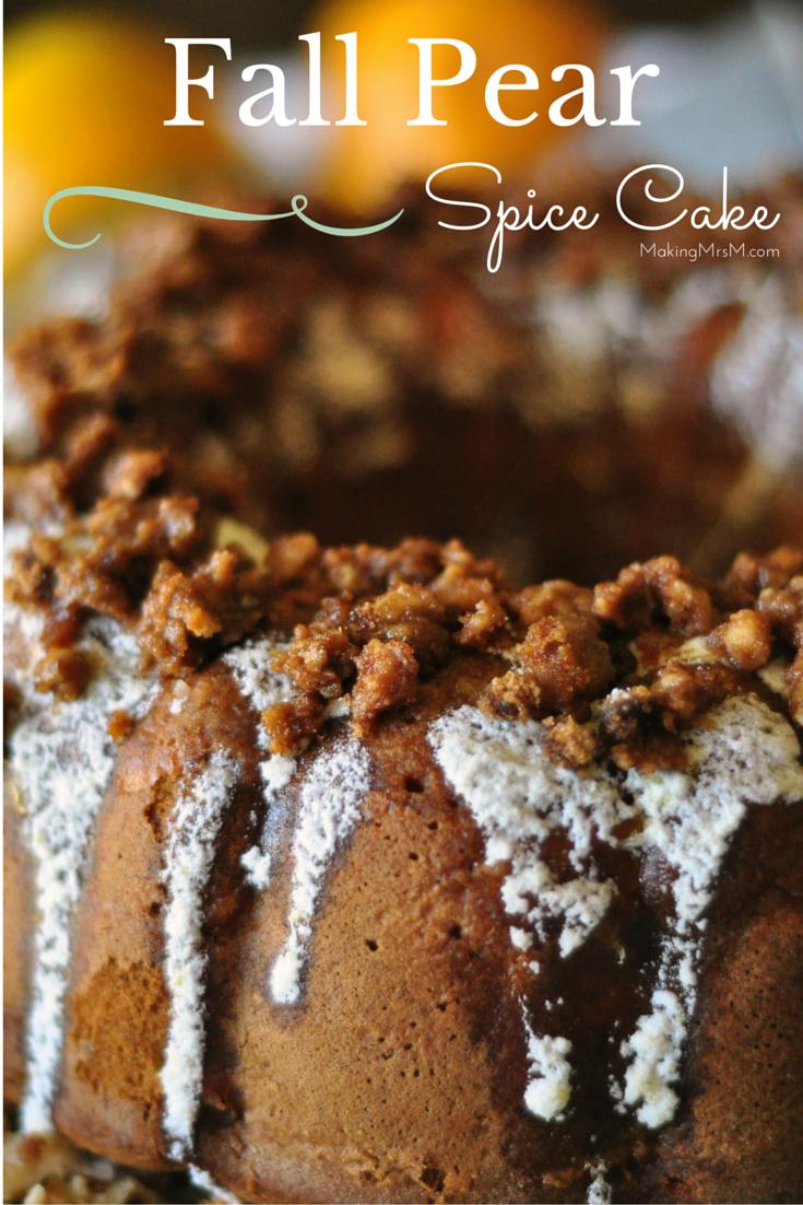 Cake recipe with allspice