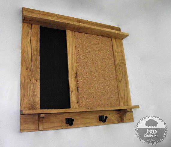 Oak Chalk Board Cork Board Wooden Notice Board Black Frames On