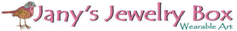 In Jany's Jewelry Box you will find a collection of unique wearable art. Designs ranges from stylish to sophisticated, antique to feminine, natural to Bohemian. Browse my collection of necklaces, bracelets, earrings, pins, rings and accessories, including signed and unsigned. Find the perfect gift, or add some color, sparkle and style to your wardrobe.