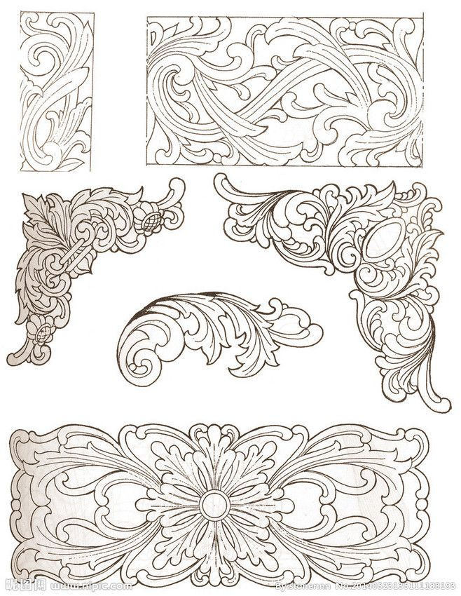 wood burning design templates - chinese traditional wood carving patterns design