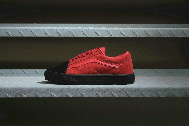 9557df9943 Vans Classic Old Skool Black Red TH12 Skate Shoe  Vans