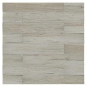 Enjoy the look of hardwood with porcelain durability in the Beachwood Glazed  Porcelain Floor and Wall Tile from the