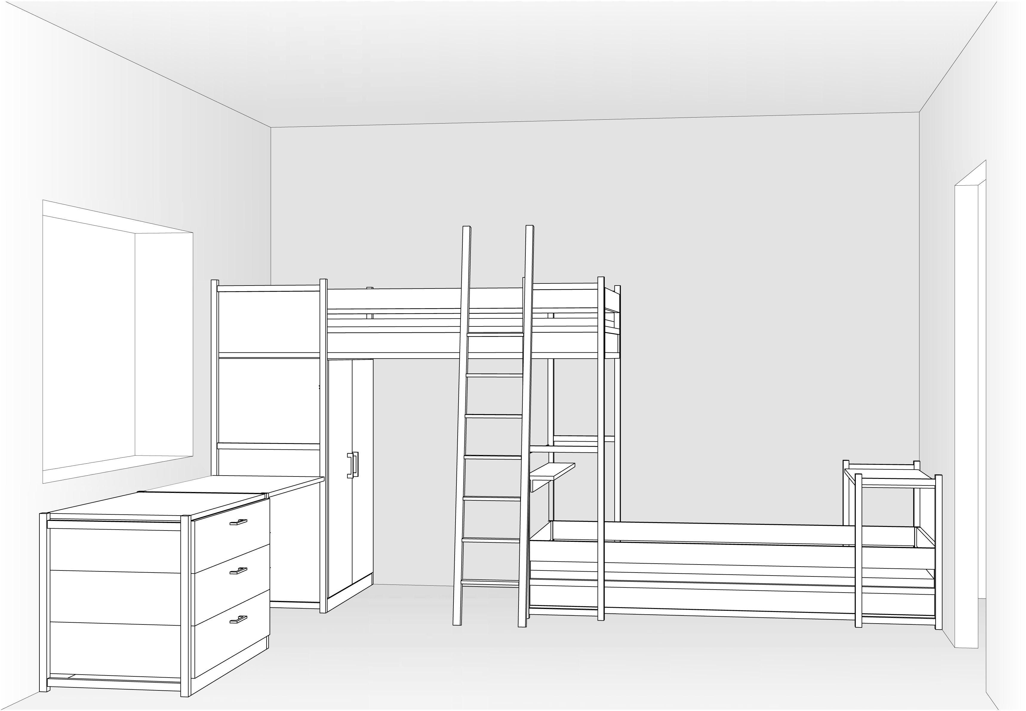 Habitaci infantil amb lliteres tren armari i escriptori - Habitacion infantil tren ...