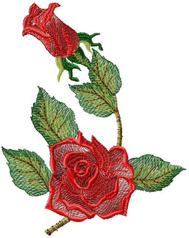 rose free embroidery design
