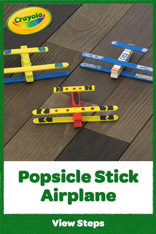 Photo of Popsicle Stick Airplane