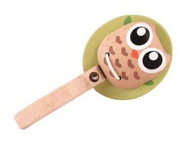 Everearth wooden owl rattle clacker toy for baby $16.95 ...