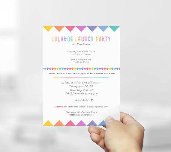 Minimal Lula Invitation Card Launch Party Free Personalization
