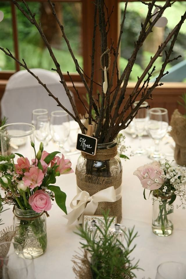 Twigs for height mismatched vases jars candle holders filled with photo by nathania springs receptions dandenong ranges victoria australia junglespirit Images
