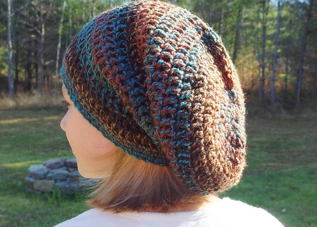 Seamless Spiral Bulky Slouch Hat pattern by Yarn me Silly ...