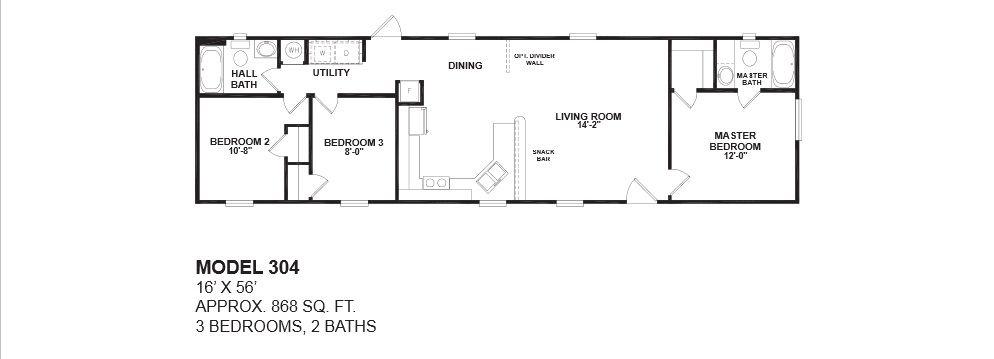 oak creek floor plans for manufactured homes san antonio - 16 Wide Mobile Home Floor Plans