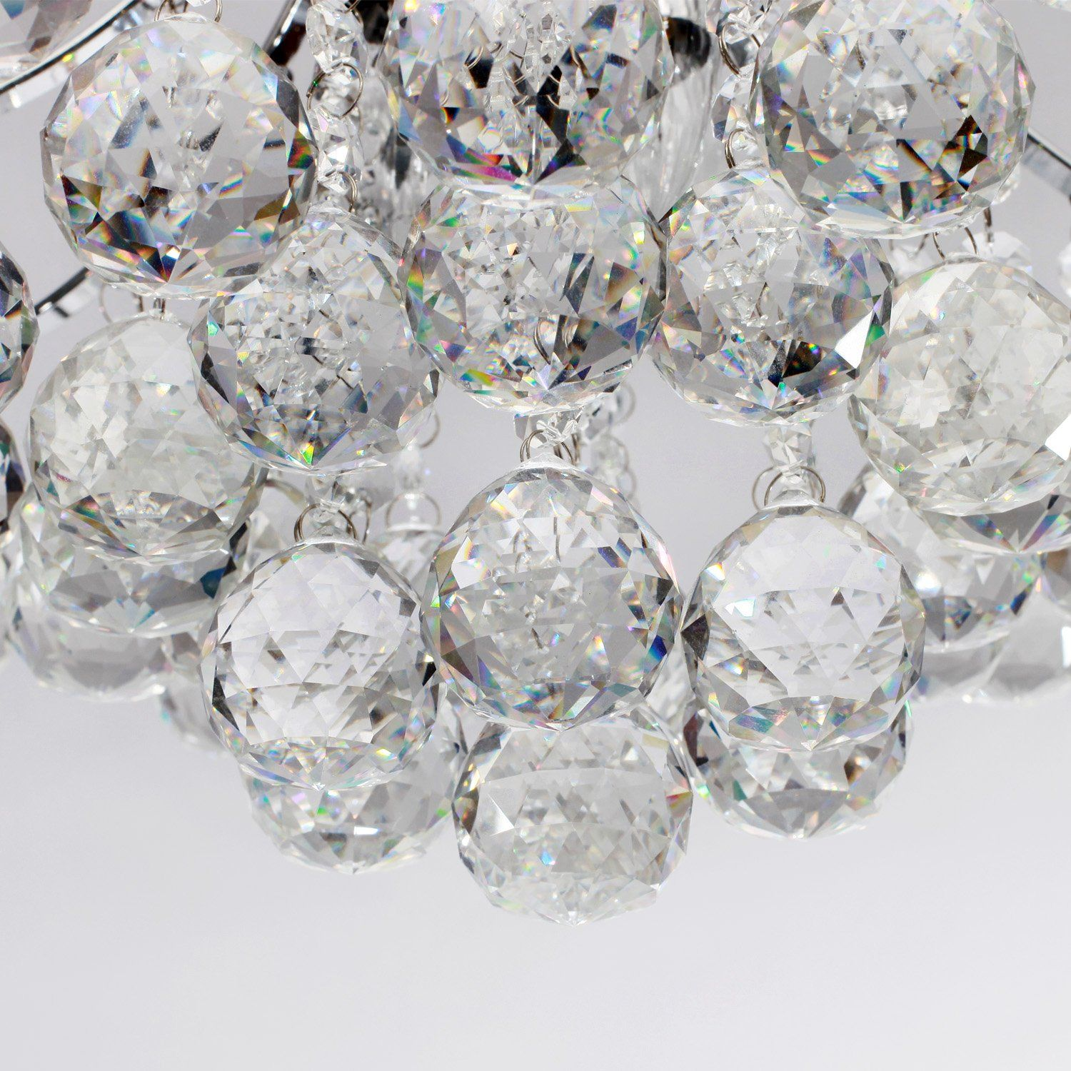 LightInTheBox Chrome Finish Crystal Chandelier with 3