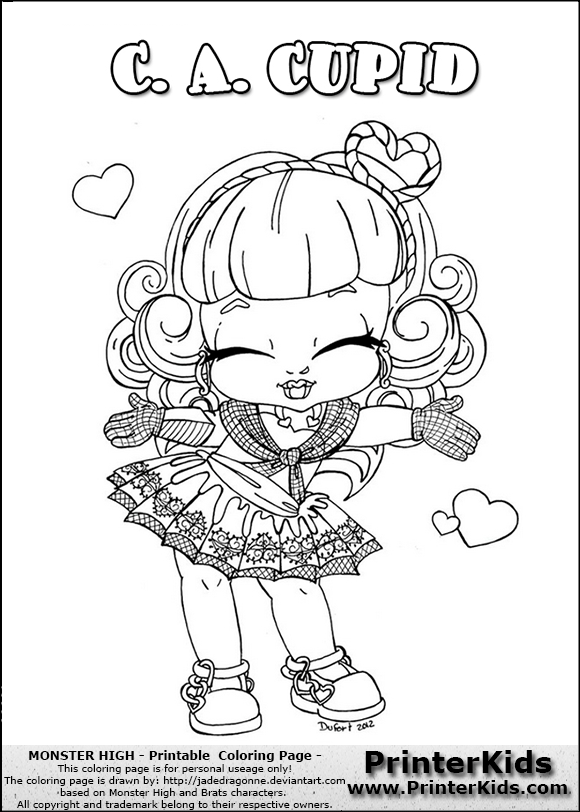 This printable colouring sheet show a cute baby or chibi version ...