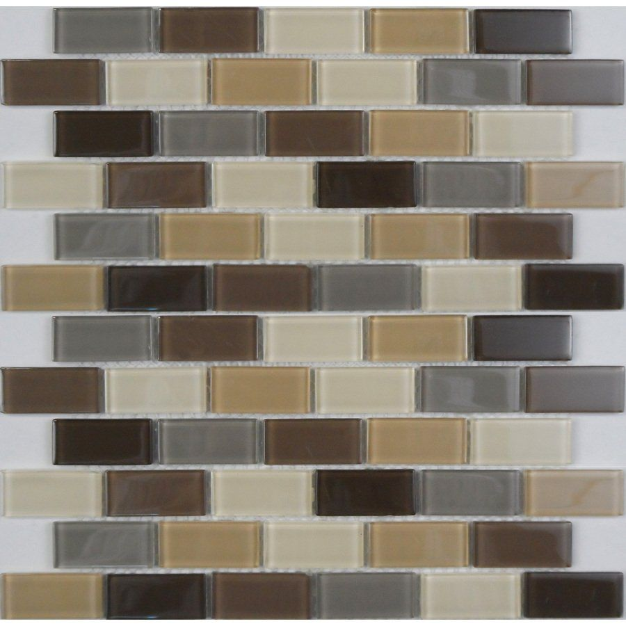 Shop Avenzo 12-in x 12-in Oasis Glass Blend Mosaic Wall Tile at ...