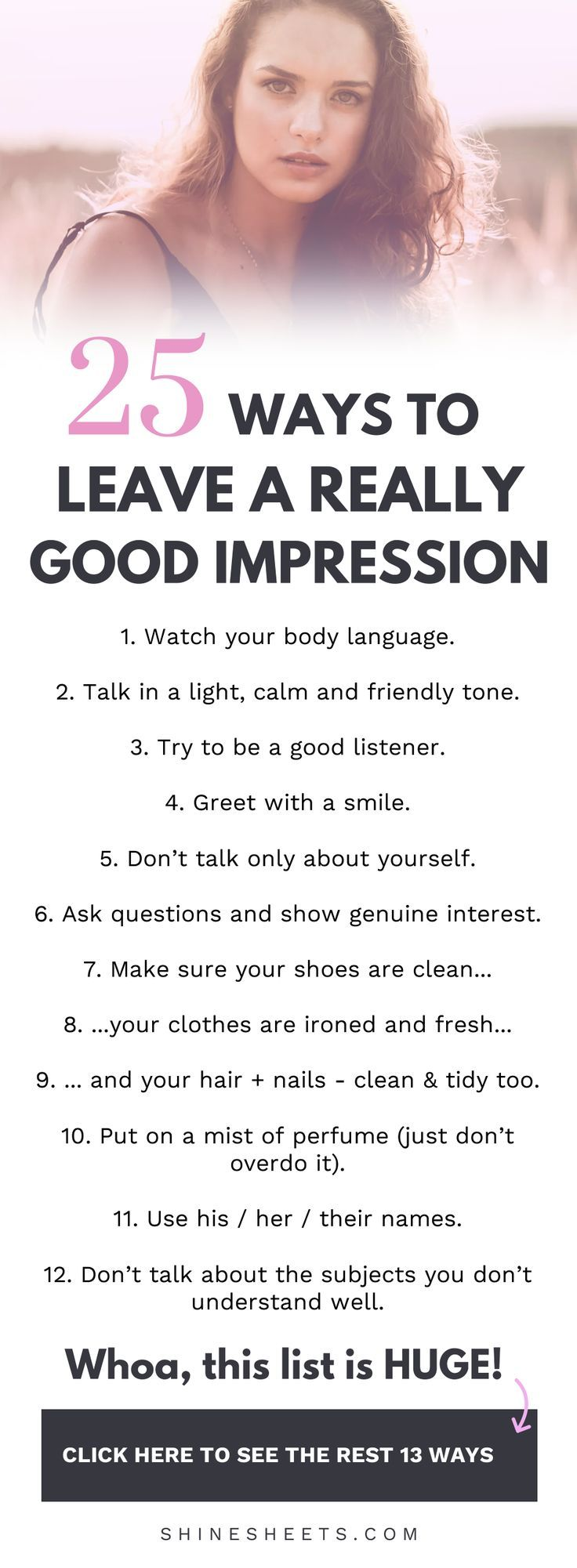 25 Ways To Leave a Good Impression
