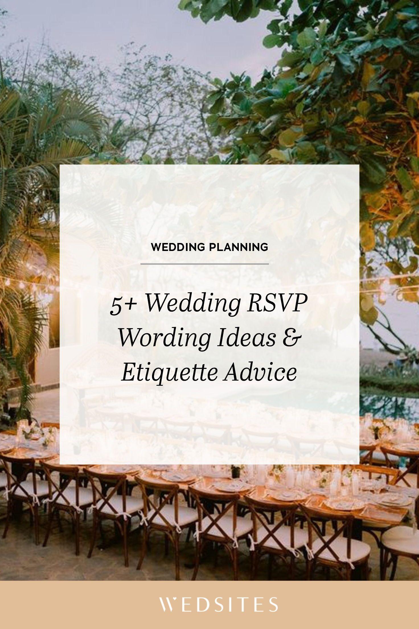5+ Wedding RSVP Wording Ideas & Timeline Etiquette