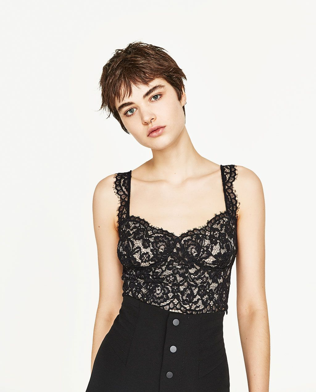 7aa74aed37f5 LACE BRALETTE-View All-T-SHIRTS-WOMAN | ZARA United States | Got the ...