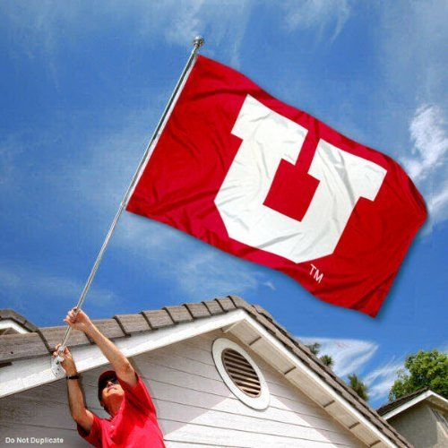 Utah Utes Big U Flag By College Flags And Banners Co 29 95 Our Utah Utes Flag Measures 3x5 Feet In Size Has Quadruple Sti College Flags Flag Outdoor Flags
